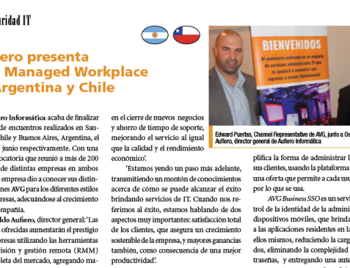 Aufiero presenta AVG Managed Workplace en Argentina y Chile
